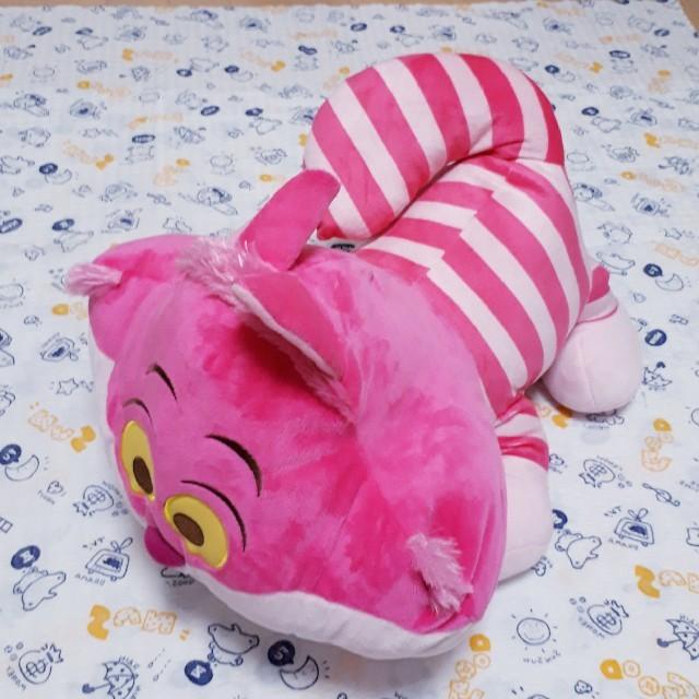 チェシャ猫大きなぬいぐるみ エンタメ/ホビーのおもちゃ/ぬいぐるみ(ぬいぐるみ)の商品写真