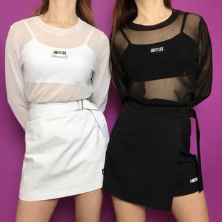 ミックスエックスミックス(mixxmix)のHIDE スカートBLACK mixxmix(ミニスカート)