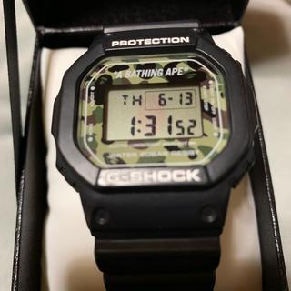 アベイシングエイプ(A BATHING APE)のA BATHING APE CASIO G-SHOCK コラボ エイプ 限定(腕時計(デジタル))