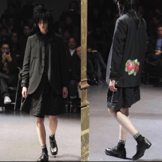 COMME des GARCONS HOMME PLUS - コム デ ギャルソン ノーカラージャケット 薔薇 12aw