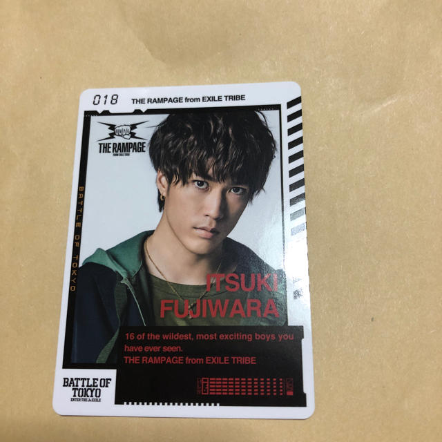 THE RAMPAGE 藤原樹 カード エンタメ/ホビーのタレントグッズ(ミュージシャン)の商品写真