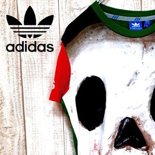 アディダス(adidas)の【個性的】アディダスオリジナルス 半袖Tシャツ スカル インパクト抜群(Tシャツ/カットソー(半袖/袖なし))