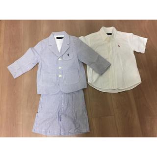 ラルフローレン(Ralph Lauren)の値下 美品 ラルフローレン フォーマルスーツ シャツ ジャケット パンツ 3点(ドレス/フォーマル)