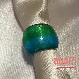 ベネチアンガラス風リング ツートンa2(リング(指輪))