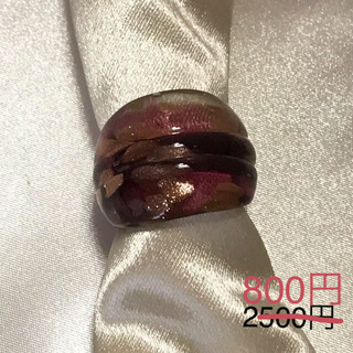 ガラスリング 薄紫(リング(指輪))
