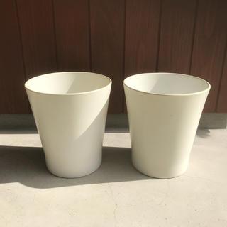 イケア(IKEA)の【IKEA/イケア】 イケア PAPAJA 植木鉢 ホワイト 2個セット(その他)