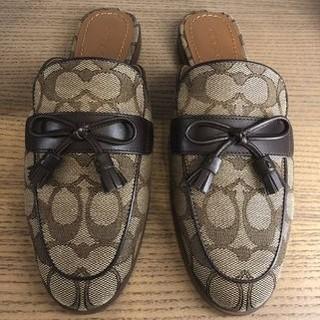 コーチ(COACH)の【COACH★FG2709】コーチ バンブーサンダル 靴 シグネチャー 新品(サンダル)