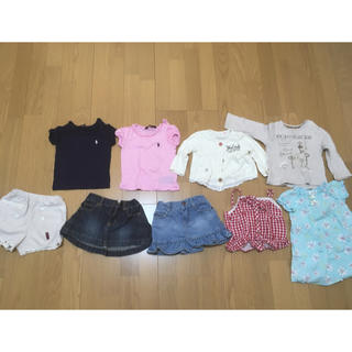 ラルフローレン(Ralph Lauren)の春夏服セット80㎝、90㎝。ラルフローレン3点(Tシャツ/カットソー)