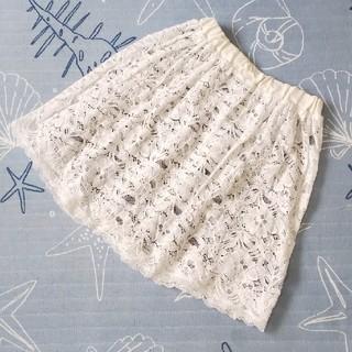 ジーユー(GU)の花柄レース スカート 150  女の子(スカート)