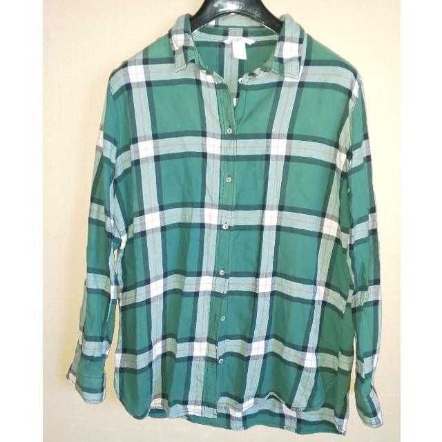 H&M(エイチアンドエム)のH&M コットン チェック シャツ レディースのトップス(シャツ/ブラウス(長袖/七分))の商品写真