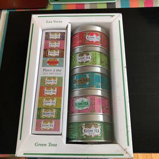 グリーンティー ミニチュア缶ギフトセット 茶こし付き(茶)