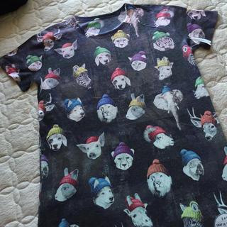 スリーフォータイム(ThreeFourTime)のニット帽アニマルTシャツ(Tシャツ(半袖/袖なし))