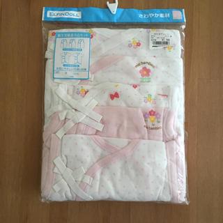 ニシマツヤ(西松屋)の新品 新生児肌着5点セット 5060 女の子 綿100%さわやか素材(肌着/下着)