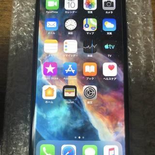 アップル(Apple)のnanamomo's shop様専用・iPhoneX 256GB AU 美品(携帯電話本体)