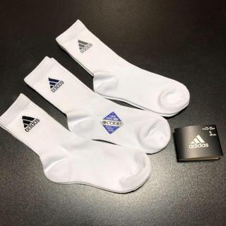 アディダス(adidas)の送無  アディダス 左右ロゴ入り 靴下 ソックス  スクールソックス 3足セット(ソックス)