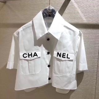 シャネル(CHANEL)のCHANELシャネルレディース夏シャツ白(シャツ/ブラウス(半袖/袖なし))