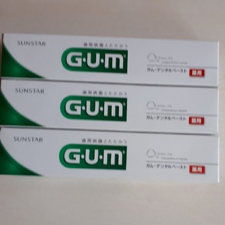 サンスター(SUNSTAR)のガム・デンタルペースト 薬用155g×3(歯磨き粉)