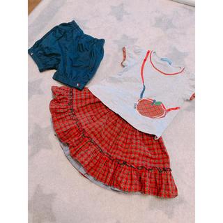 familiar - ファミリア スカート パンツ Tシャツ セット 80