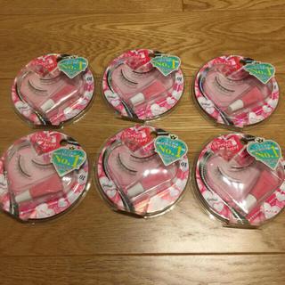 コージーホンポ(コージー本舗)のコージー本舗 付けまつげ スプリングハート 01 ナチュラル 6個セット(つけまつげ)