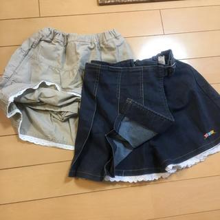 ユニクロ(UNIQLO)のキュロットパンツ付きスカート 2点 ユニクロ他 レースつき サイズ110(スカート)