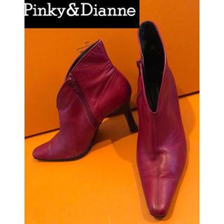 ピンキーアンドダイアン(Pinky&Dianne)の送料800込み❗️Pinky&Dianneピンキーアンドダイアンブーティ美品本革(ブーティ)