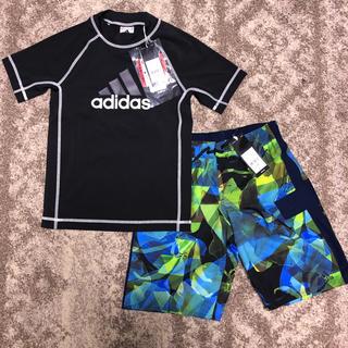 アディダス(adidas)の ✨格安! 150cm上下セット adidas サーフパンツ & ラッシュガード(水着)