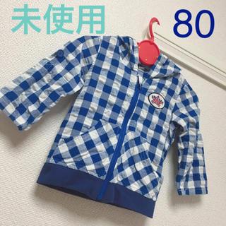ニシマツヤ(西松屋)の【未使用】 西松屋 羽織り 薄手  パーカー  80  綿100%(カーディガン/ボレロ)