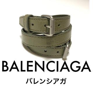 バレンシアガ(Balenciaga)のバレンシアガ BALENCIAGA ユニセックス レザーバングル 3連(バングル/リストバンド)