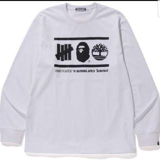 アベイシングエイプ(A BATHING APE)のBAPE X UNDFTD X TIMBERLAND L/S TEE XLサイズ(Tシャツ/カットソー(七分/長袖))