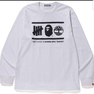 アベイシングエイプ(A BATHING APE)のBAPE X UNDFTD X TIMBERLAND L/S TEE Lサイズ(Tシャツ/カットソー(七分/長袖))