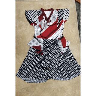 ルイヴィトン(LOUIS VUITTON)のルイヴィトン ワンピース プリントパッチワークドレス(ひざ丈ワンピース)