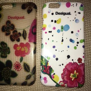 iPhone6 6s ケース 花柄 デシグアル Desigual 2コセット