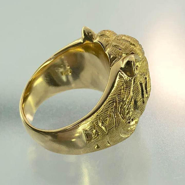 K18ダイヤリング メンズのアクセサリー(リング(指輪))の商品写真