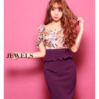 ジュエルズ(JEWELS)のjewels ジュエルズ ドレス 花柄 ピンク パープル タイト(ナイトドレス)