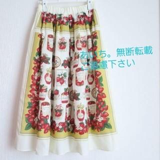 ジェーンマープル(JaneMarple)のJANEMARPLE スカート Strawberry label scarf(ロングスカート)