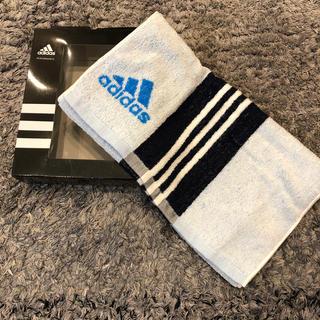 adidas - 新品 未使用 アディダス フェイスタオル ホワイト ブルー 34×80センチ