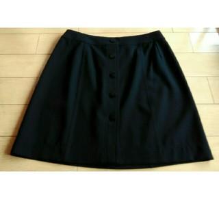 シャネル(CHANEL)のシャネル スカート 黒!(ひざ丈スカート)