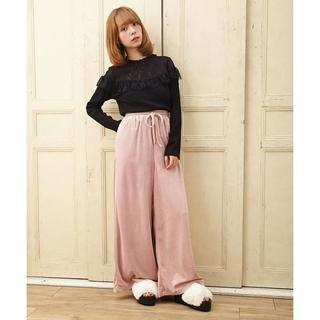 INGNI - イング(INGNI)定価4,212円 ベロア ワイド パンツ ピンク