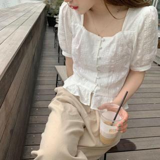 STYLENANDA - 韓国ファッション♡スクエアホワイトブラウス♡