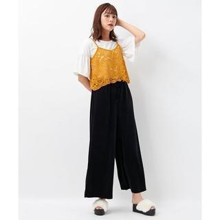 INGNI - イング(INGNI)定価4,212円 ベロア ワイド パンツ ブラック