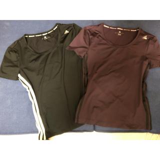 adidas - adidas スポーツ Tシャツ 2枚セット レディース