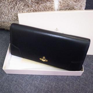 ヴィヴィアンウエストウッド(Vivienne Westwood)の☆正規品☆ヴィヴィアン 長財布 黒 レザー 土星 オーブ バッグ 財布 (財布)
