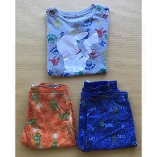 ユニクロ(UNIQLO)のポケモン ディズニー Tシャツ ステテコ3点セット 110 ユニクロ(パジャマ)