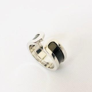 カルティエ(Cartier)の41 カルティエ C2リング ブラックラッカー 750 10.1g 51 11号(リング(指輪))