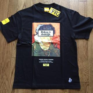 ヴァンキッシュ(VANQUISH)のFR2 smoking kills Tシャツ ゴッホ柄 ブラック(Tシャツ/カットソー(半袖/袖なし))