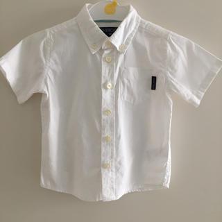 ニシマツヤ(西松屋)の白シャツ 半袖 90cm(ブラウス)