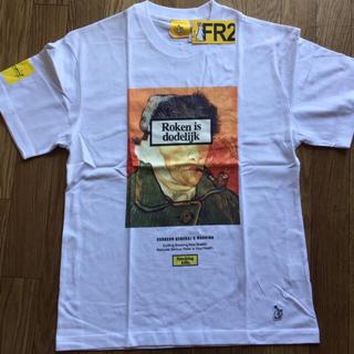 ヴァンキッシュ(VANQUISH)のFR2 smoking kills Tシャツ ゴッホ柄 ホワイト(Tシャツ/カットソー(半袖/袖なし))