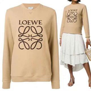 ロエベ(LOEWE)のLOEWE ロエベ 19ss アナグラムスウェットシャツ ベージュ ロゴ(パーカー)