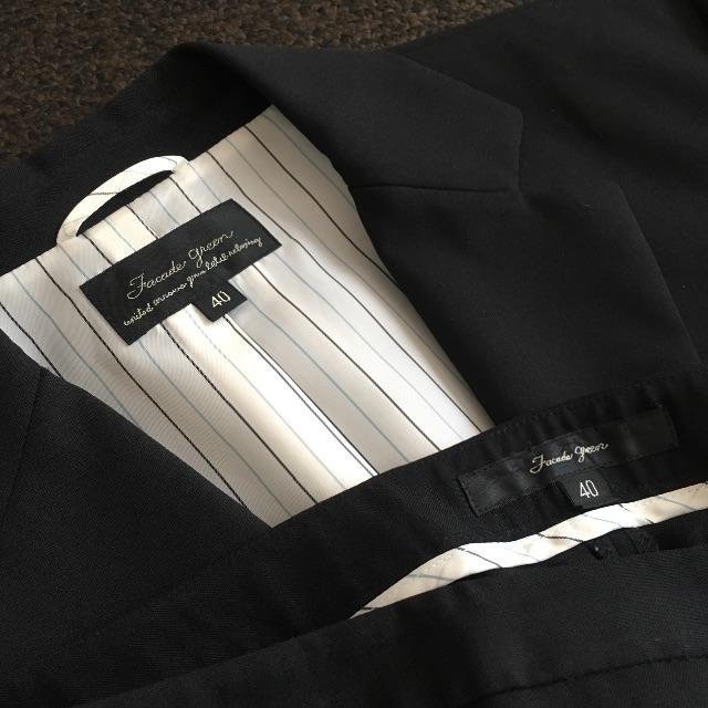UNITED ARROWS(ユナイテッドアローズ)の夏パンツスーツ FACADE GREEN グリーンレーベルリラクシング レディースのフォーマル/ドレス(スーツ)の商品写真