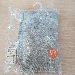 ムジルシリョウヒン(MUJI (無印良品))のフレンチリネン UV カット 手通し ケープ ストール ライトグレー(ストール/パシュミナ)